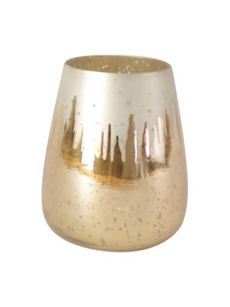 Świecznik Glori, Szkło, Odcienie złotego, Ø 11 x W 13 cm