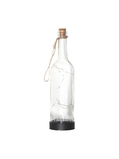 Zewnętrzna stołowa lampa solarna Bottle, Transparentny, Ø 8 x W 31 cm