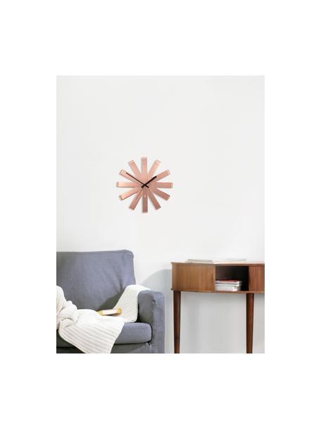 Orologio da parete Ribbon, Puntatore: metallo, Color rame, nero, Ø 30 cm