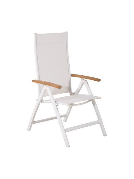 Składane krzesło ogrodowe Panama, Stelaż: aluminium, lakierowane, Biały, S 58 x G 75 cm