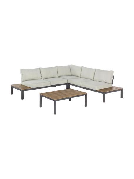 Gartenlounge-Set Elias, 4-tlg., Gestell: Aluminium, pulverbeschich, Creme, Anthrazit, B 246 x T 246 cm