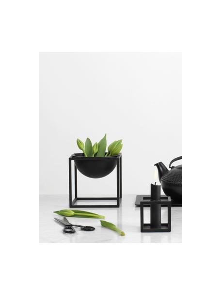 Schaal Kubus, Gelakt staal, Zwart, 14 x 14 cm