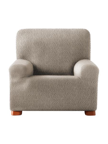 Pokrowiec na fotel Roc, 55% poliester, 35% bawełna, 10% elastomer, Beżowy, S 130 x W 120 cm