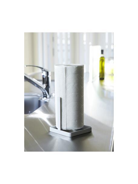 Küchenrollenhalter Tower, Stahl, beschichtet, Weiss, 11 x 27 cm