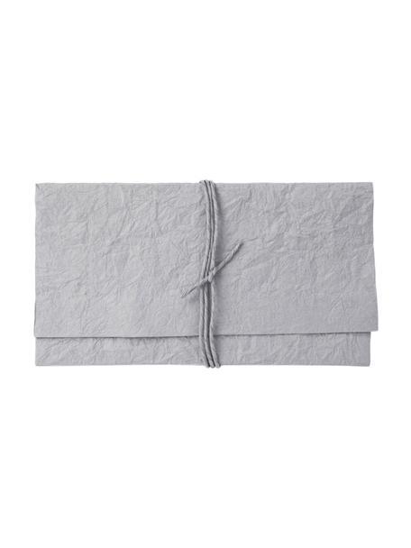 Umschlag Soft, Papier, Grau, 27 x 15 cm