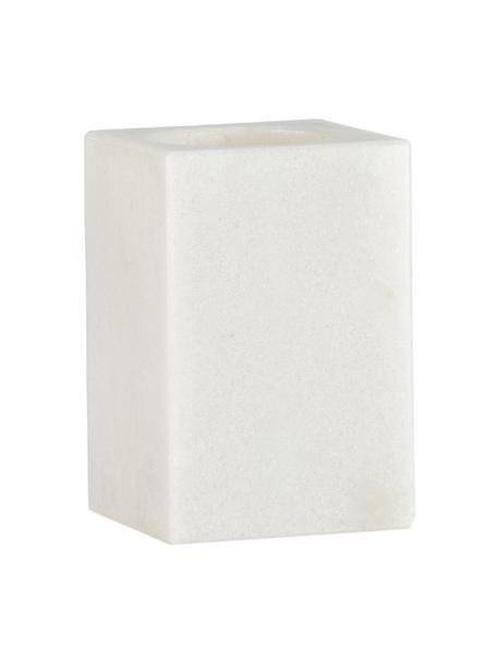 Portaspazzolino in marmo Andre, Contenitore: marmo, Bianco, Ø 7 x Alt. 11 cm