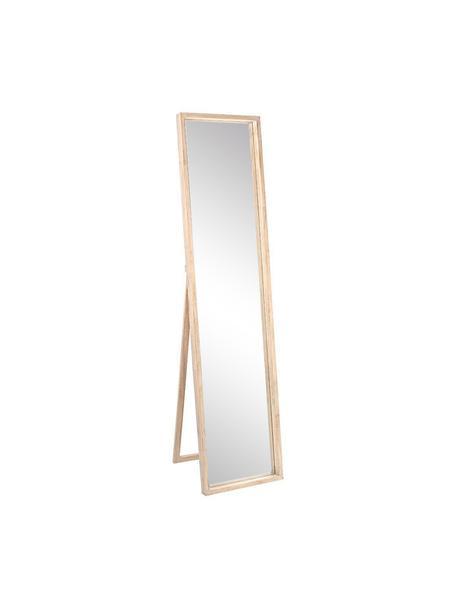 Espejo de pie de madera Tiziano, Espejo: cristal, Beige, An 40 x Al 170 cm
