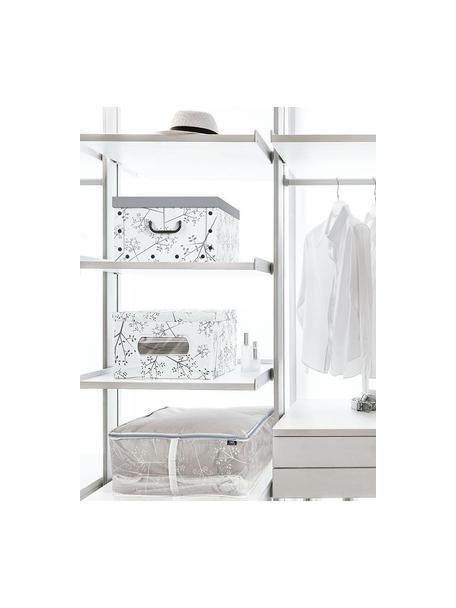 Bolsa de almacenaje Carlos, Fibra sintética, Gris, transparente, An 55 x F 25 cm