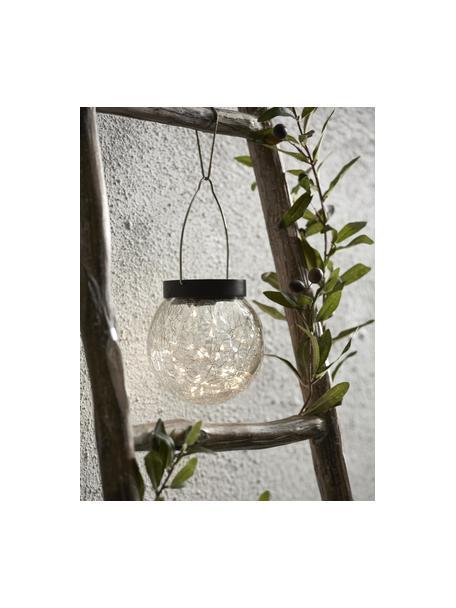 Solar Hängelampe Glory aus Glas, Lampenschirm: Glas, Griff: Metall, Transparent, Ø 12 x H 13 cm