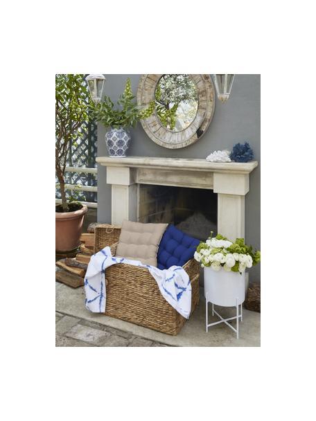 Cuscino sedia taupe Ava, Rivestimento: 100% cotone, Beige, Larg. 40 x Lung. 40 cm