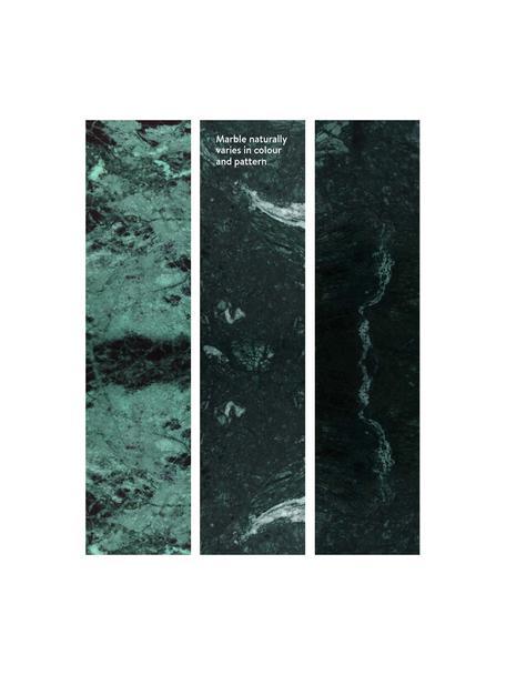 Marmor-Couchtisch Alys, Tischplatte: Marmor, Gestell: Metall, beschichtet, Grüner Marmor, Goldfarben, 120 x 35 cm