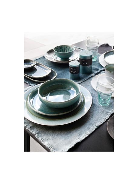 Platos hondo Audrey, 2uds., Gres, Verde azulado, Ø 16 cm