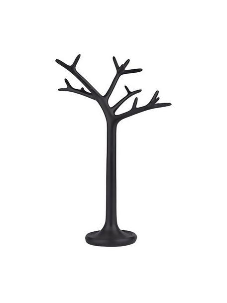 Stand portagoielli Tree, Poliresina, Nero, Larg. 21 x Alt. 33 cm