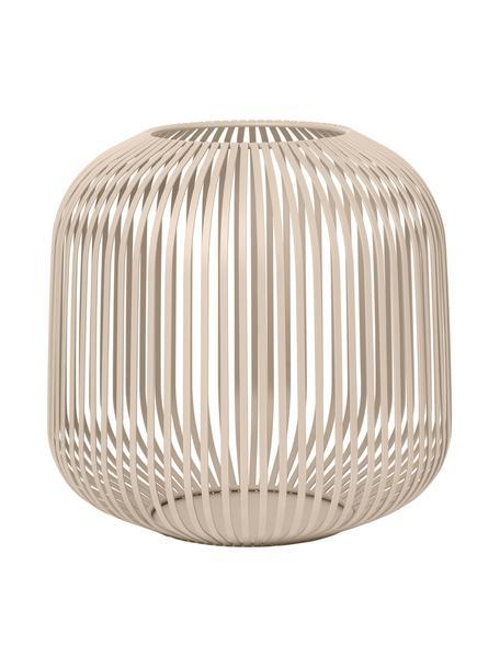 Laterne Lito, Metall, beschichtet, Beige, Ø 28 x H 27 cm