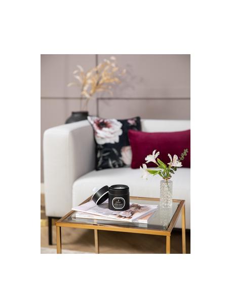Geurkaars Black Magic (witte jasmijn, ylang ylang en sandelhout), Houder: glas, Zwart, wit, Ø 8 x H 9 cm