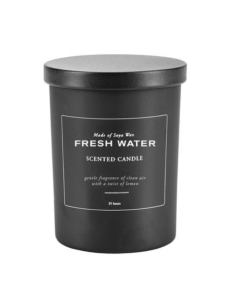 Duftkerze Fresh Water (Frische Luft, Zitrone), Behälter: Glas, Deckel: Kunststoff, Frische Luft, Zitrone, Ø 8 x H 10 cm