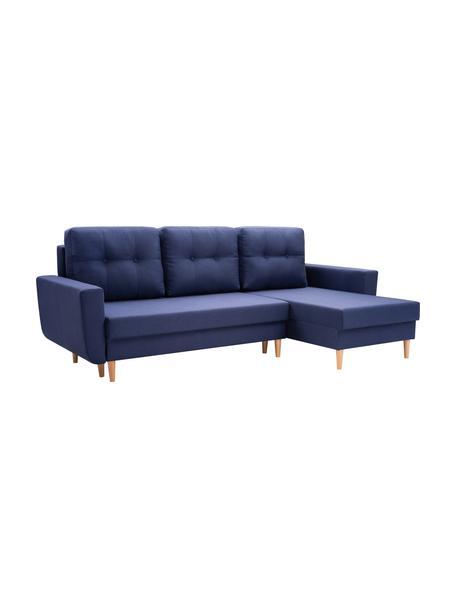 Sofa narożna z funkcją spania i miejscem do przechowywania Neo (4-osobowa), Tapicerka: 100% poliester, Ciemny niebieski, S 230 x G 140 cm