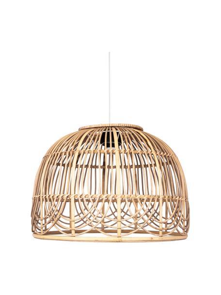 Lámpara de techo de ratán Bali, Pantalla: ratán, Anclaje: metal recubierto, Cable: plástico, Ratán, Ø 35 x Al 24 cm
