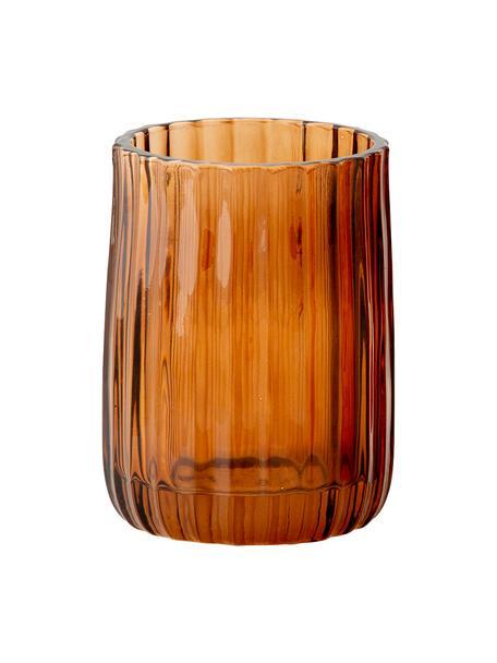 Tandenborstelbeker Aldgate, Glas, Bruin, Ø 7 x H 10 cm