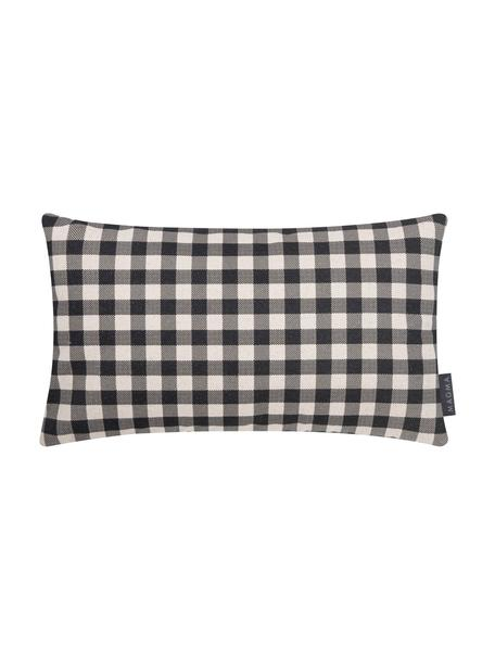 Poszewka na poduszkę Cabane, 85% bawełna, 15% len, Beżowy, czarny, S 30 x D 50 cm