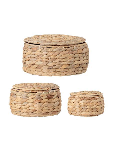 Set de cestas Hyacina, 3uds., Jacinto, Marrón, Set de diferentes tamaños