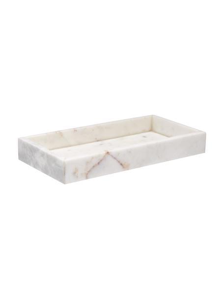Deko-Marmor-Tablett Sienna in Weiss, Marmor, Weiss, 15 x 4 cm
