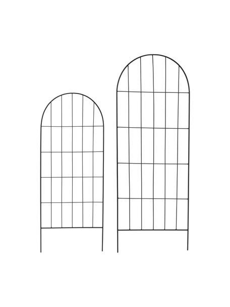 Pflanzenrankhilfe-Set Lexi, 2-tlg., Metall, beschichtet, Schwarz, Set mit verschiedenen Größen