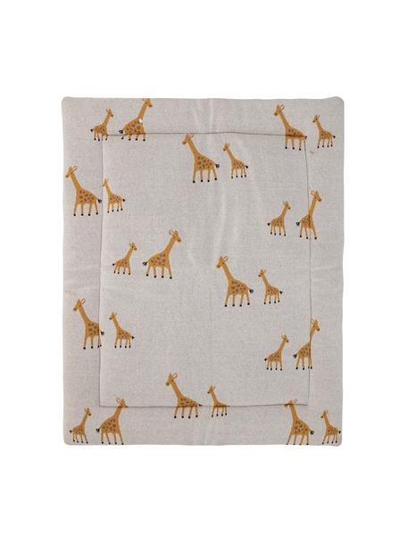Decke Giraffe, Bezug: Baumwolle, Öko-Tex-zertif, Beige, 77 x 100 cm