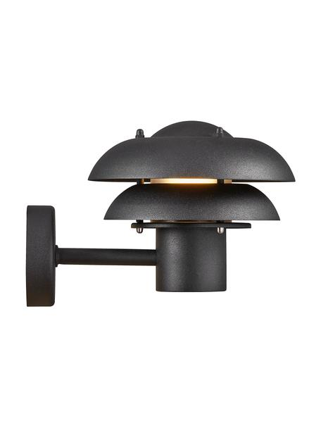 Aplique para exterior Kurnos, Pantalla: metal recubierto, Negro, An 20 x Al 18 cm