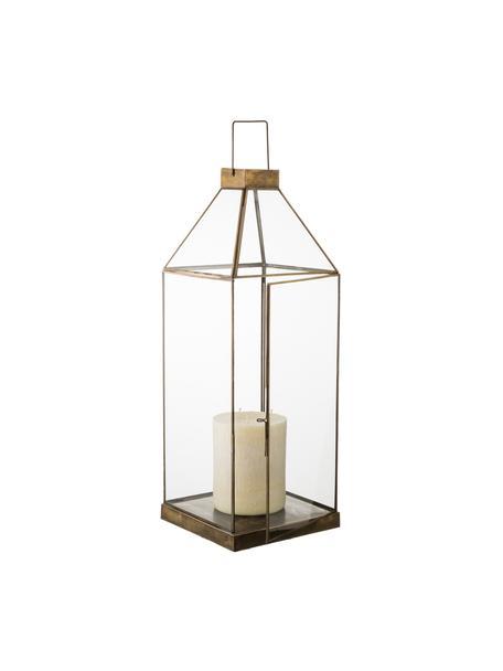 Lanterna in vetro Aladin, Struttura: metallo rivestito, Bronzo, Larg. 20 x Alt. 50 cm