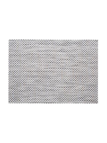 Kunststoffen placemats Trefl, 2 stuks, Kunststof Vlekken verwijderen met behulp van een vochtige doek., Beige, lichtgrijs, 33 x 46 cm