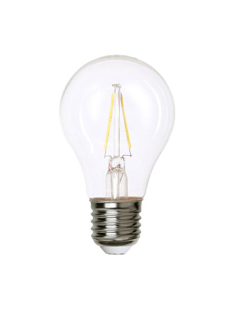 E27 Leuchtmittel, 2W, warmweiß, 1 Stück, Leuchtmittelschirm: Glas, Leuchtmittelfassung: Kupfer, vernickelt, Transparent, Nickel, Ø 6 x H 11 cm