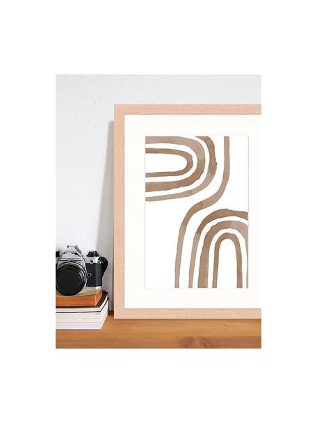 Impresión digital enmarcada Modern Poster, Madera, blanco, An 33 x Al 43 cm