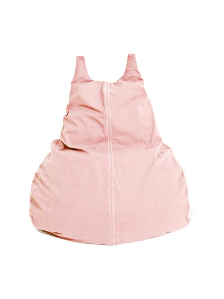 Worek do siedzenia z bawełny organicznej Happycat, Blady różowy, S 90 x W 100 cm