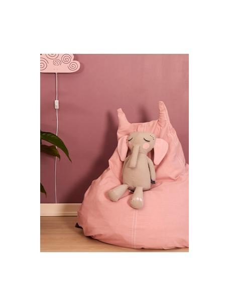 Pouf in cotone organico Happycat, Rosa, Larg. 90 x Alt. 100 cm