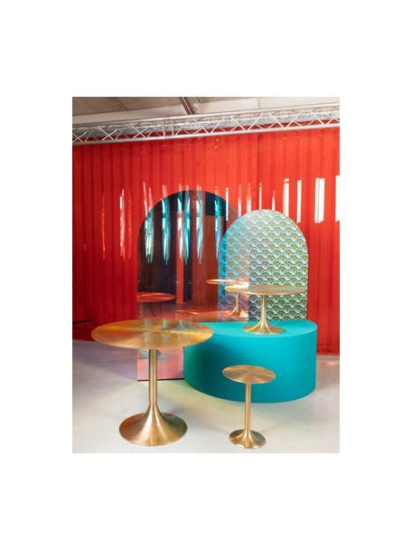 Mesa auxiliar redonda Hypnotising, Aluminio pintado, Dorado, Ø 37 x Al 48 cm