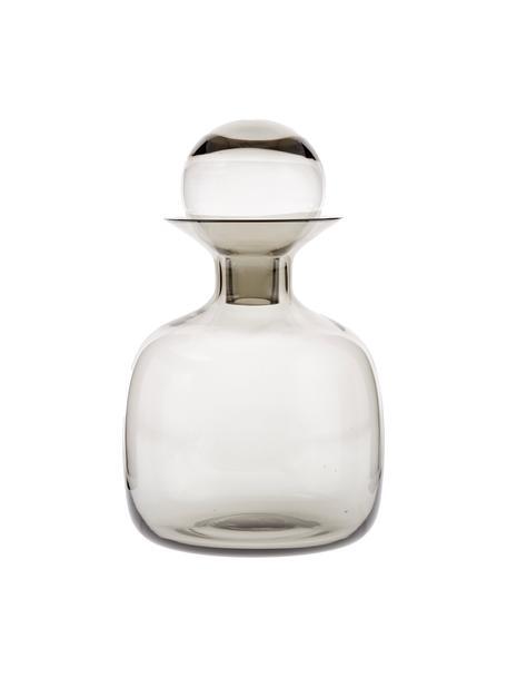 Handgemaakte karaf Colored in transparant grijs 1.5 L, Glas, Grijs, transparant, H 25 cm