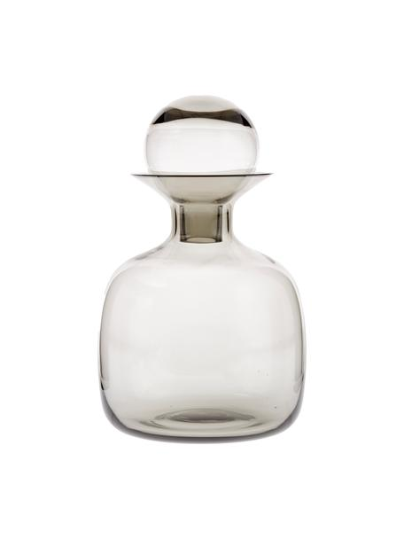 Handgemachte Karaffe Colored in Grau transparent, 1.5 L, Glas, Grau, transparent, H 25 cm