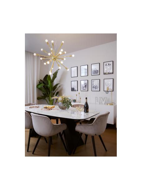 Lámpara de techo grande Spike, Pantalla: metal, Anclaje: metal, Cable: plástico, Dorado, Ø 90 cm