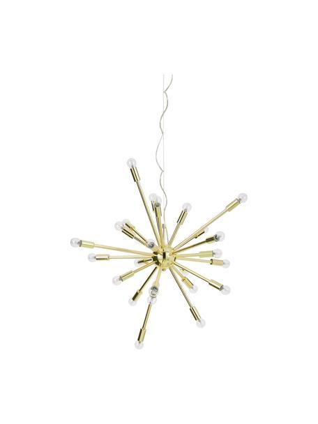 Große Pendelleuchte Spike in Gold, Lampenschirm: Metall, Baldachin: Metall, Goldfarben, Ø 90 cm