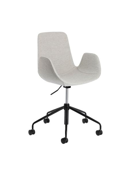 Gestoffeerde bureaustoel Yolanda, in hoogte verstelbaar, Bekleding: polyester, Frame: gecoat staal, Grijs, zwart, 66 x 72 cm
