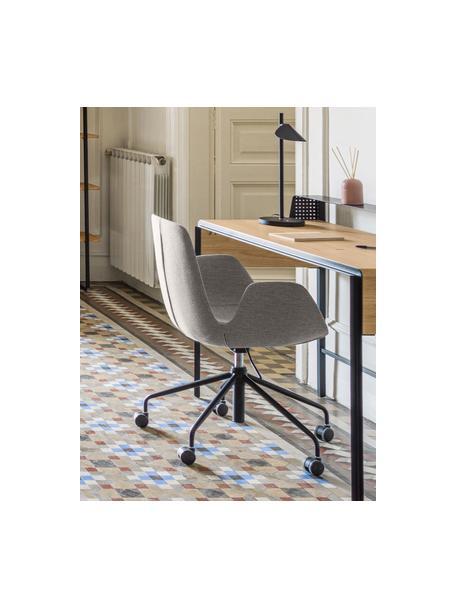 Sedia da ufficio girevole Yolanda, Rivestimento: poliestere, Struttura: acciaio rivestito, Grigio, nero, Larg. 66 x Alt. 72 cm