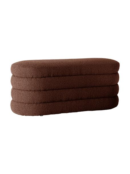 Bouclé bank Alto in bruin, Bekleding: bouclé (100% polyester), Frame: massief grenenhout, multi, Bouclé bruin, 110 x 47 cm