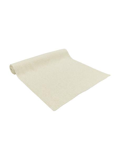 Camino de mesa de algodón Vialactea, Algodón, tejido lúrex, Beige, dorado, An 50 x L 170 cm