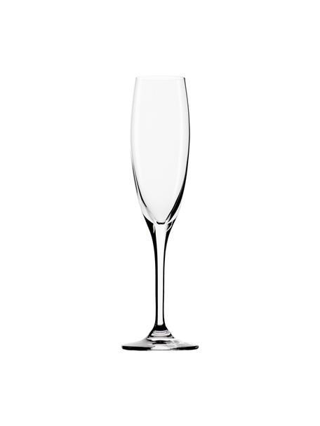 Copas flauta de champán de cristal Vinea, 6uds., Cristal, Transparente, Ø 7 x Al 22 cm