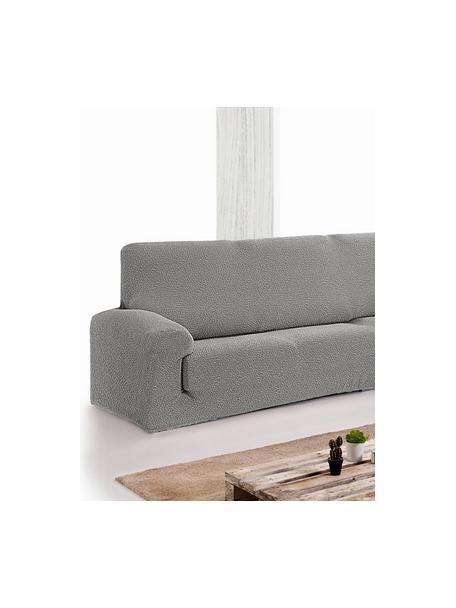 Pokrowiec na sofę narożną Roc, 55% poliester, 35% bawełna, 10% elastomer, Szary, S 600 x W 120 cm