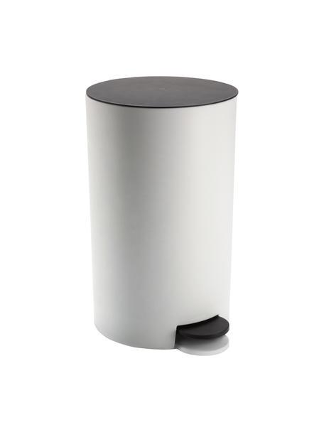 Papelera Anton, Plástico, Negro, blanco, An 16 x Al 26 cm
