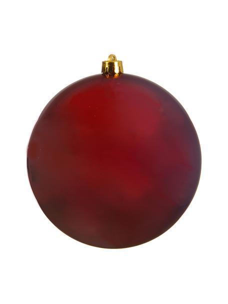 Pallina di Natale infrangibile Stix Ø20 cm, Plastica infrangibile, Rosso, Ø 20 cm