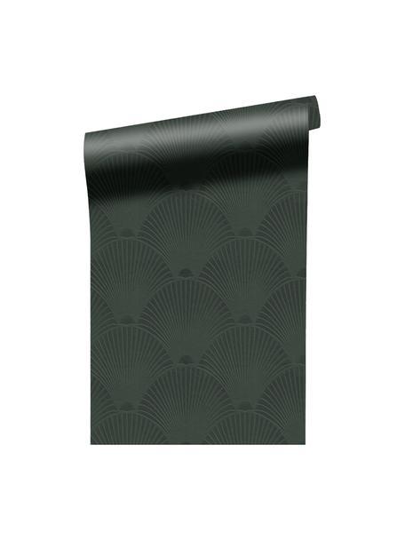 Papel pintado Art Deco Green, Tejido no tejido, Verde oscuro, An 52 x Al 1005 cm