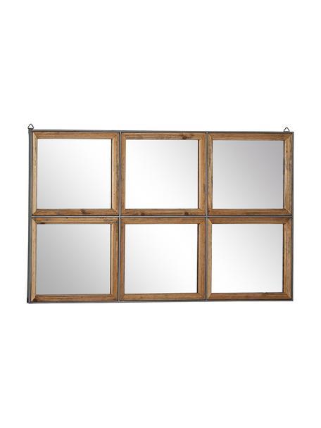 Espejo de pared Border, Marrón, An 93 x Al 53 cm